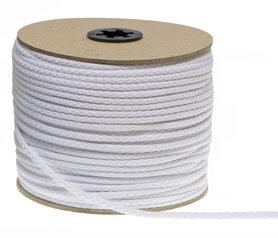 Katoenen koord wit 5 mm (ca. 100 m)