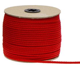 Katoenen koord rood 5 mm (ca. 100 m)