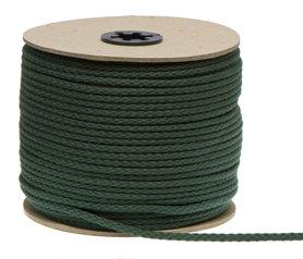 Katoenen koord donker groen 5 mm (ca. 100 m)