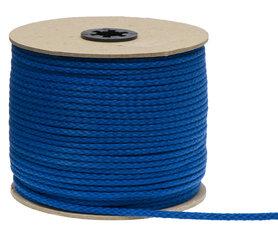 Katoenen koord kobalt blauw 5 mm (ca. 100 m)