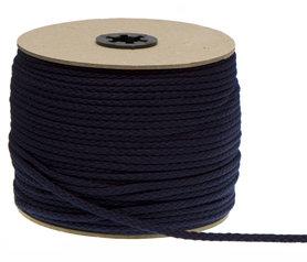Katoenen koord donker blauw 5 mm (ca. 100 m)