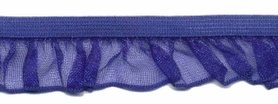 Kobalt blauw roezel elastiek 19 mm (ca. 10 meter)