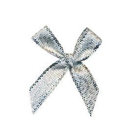Strikje zilver 25 x 35 mm (ca. 25 stuks)