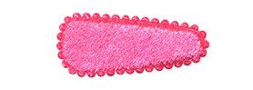 Haarkniphoesje fluweel roze 3 cm (ca. 100 stuks)