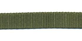 Tassenband 13 mm legergroen (50 m)