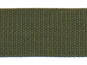 Tassenband 38 mm legergroen (ca. 50 m)