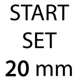 START-SET: Tassenband 20 mm 21 kleuren, elk 5 meter (ca. 105 m)