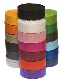 START-SET: Tassenband 30 mm 21 kleuren, elk 5 meter (ca. 105 m)