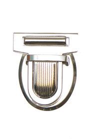Metalen tas sluiting zilverkleurig ca. 32x38 mm (10 stuks)
