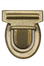 Metalen tas sluiting bronskleurig ca. 43x53 mm (10 stuks)