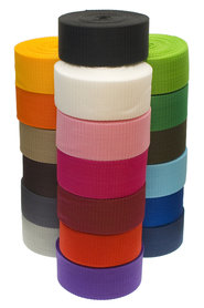 START-SET: Tassenband 38 mm 21 kleuren, elk 5 meter (ca. 105 m)