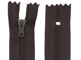 Niet-deelbare nylon rits 3 mm zwart (#580) 25 cm (12 stuks)