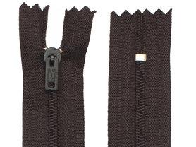 Niet-deelbare nylon rits 3 mm zwart (#580) 10 cm (12 stuks)