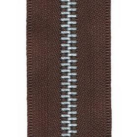 Metalen rits bruin #570 met aluminium tanden maat 5 (ca. 5 m)