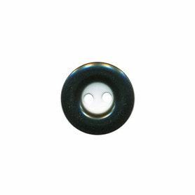 Knoop wit met zwarte rand 13 mm (ca. 100 stuks)