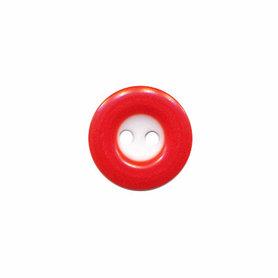 Knoop wit met rode rand 13 mm (ca. 100 stuks)