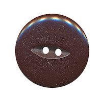 Knoop bruin met 2 gaten 25 mm (ca. 25 stuks)