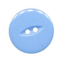 Knoop licht blauw/lavendel met 2 gaten 25 mm (ca. 25 stuks)