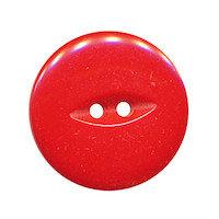 Knoop rood met 2 gaten 25 mm (ca. 25 stuks)