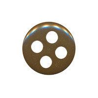 Knoop bruin met 4 grote gaten 19 mm (ca. 25 stuks)