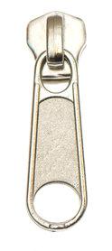 Ritsschuiver zilverkleurig voor metalen rits maat 5 (10 stuks)
