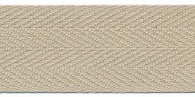 Katoenen keperband greige 30 mm (ca. 50 m) - stevig