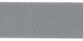 Katoenen keperband grijs 30 mm (ca. 50 m) - stevig
