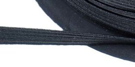 Zwart elastiek ca. 8 mm (250 m)