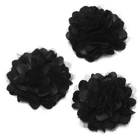 Bloem stof zwart ca. 5 cm (5 stuks)