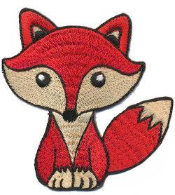 Opstrijkbare applicatie vosje rood (5 stuks)