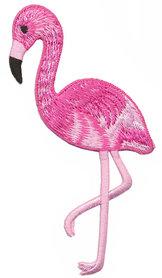 Opstrijkbare applicatie flamingo roze (5 stuks)