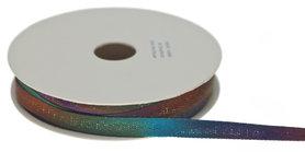 Multicolor keperband paars-blauw-groen-metallic 10 mm (ca. 25 m)