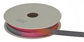 Multicolor keperband roze-meloen-grijs-metallic 10 mm (ca. 25 m)
