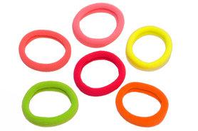 Haarelastiek endless NEON mix kleuren 4 cm (ca. 100 stuks)