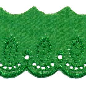 Broderie groen 50 mm (ca. 13,5 m)