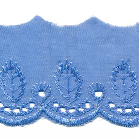 Broderie blauw 50 mm (ca. 13,5 m)