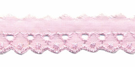 Broderie licht roze 20 mm (ca. 13,5 m)
