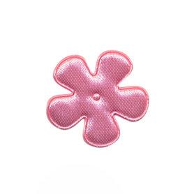 Applicatie bloem licht roze satijn effen klein 25 mm (ca. 100 stuks)