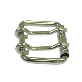 Metalen riem gesp zilverkleurig 42 mm met 2 pinnen (5 stuks)