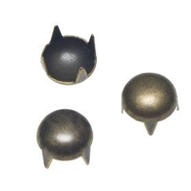 Ronde stud bronskleurig 9 mm (ca. 100 stuks)