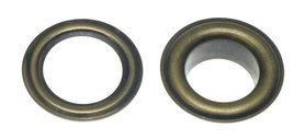 Nestels 14 mm (maat #28) bronskleurig staal (ca. 50 sets)