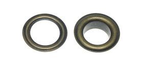 Nestels 10 mm (maat #25) bronskleurig staal (ca. 50 sets)