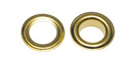 Nestels 10 mm (maat #25) goudkleurig staal (ca. 50 sets)