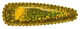 Haarkniphoesje glitter goud 5 cm (ca. 100 stuks)