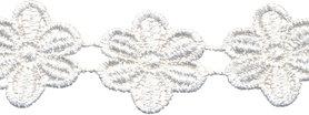 Wit bloemband 50 mm (ca. 4 m)