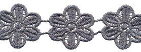 Grijs bloemband 50 mm (ca. 4 m)