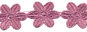 Oud roze bloemband 50 mm (ca. 4 m)