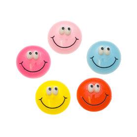 Flatback smiley MIX kleuren 25 mm (100 stuks)
