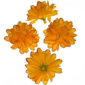 Chrysant oranje met ronde blaadjes ca. 5 cm (10 stuks)