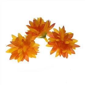 Chrysant geel/oranje met puntige blaadjes ca. 5 cm (10 stuks)